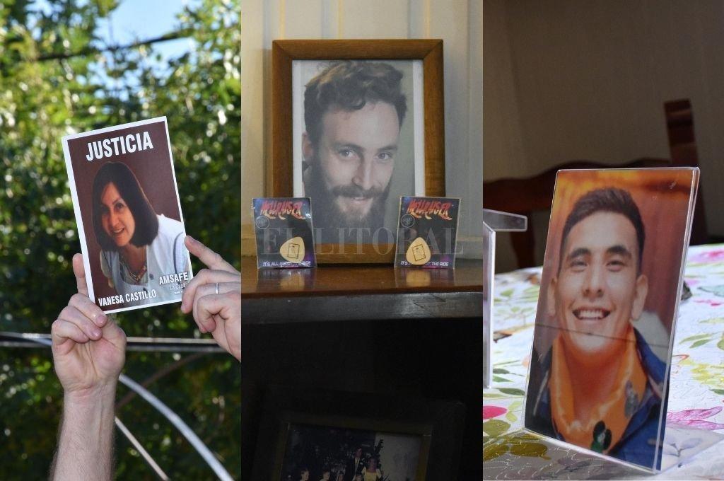 Izquierda: Vanesa Castillo. Centro: Julio Cabal. Derecha: Maximiliano Olmos.  Crédito: Flavio Raina / Pablo Aguirre / Pablo Aguirre