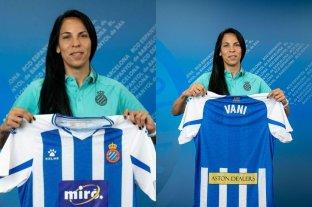 Vanina Correa, arquera de la Selección argentina, fue presentada en el Espanyol de Barcelona
