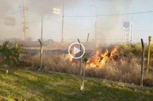 Nuevo incendio de pastizales en barrio El Pozo -  -