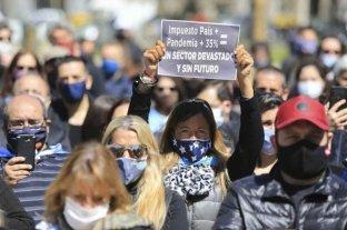 Protesta de empresarios y trabajadores vinculados al turismo