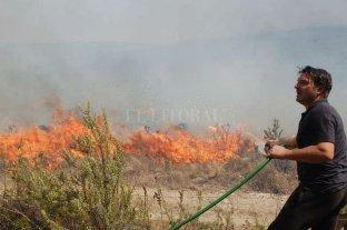 Córdoba: Damián De Santo colaboró para apagar un incendio forestal