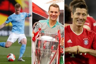 Sin Messi ni Cristiano Ronaldo, la UEFA dio a conocer los nominados como mejor jugador del año