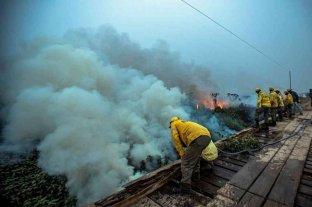 Brasil envió a la Fuerza Nacional para combatir los incendios en el Pantanal