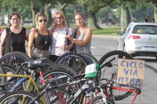 Ratificaron la libertad para conductor que chocó a ciclista - Manifestación realizada para reclamar justicia por Mariana. -