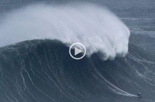 Video: la brasileña Maya Gabeira surfeó la ola más grande de la temporada 2019-2020
