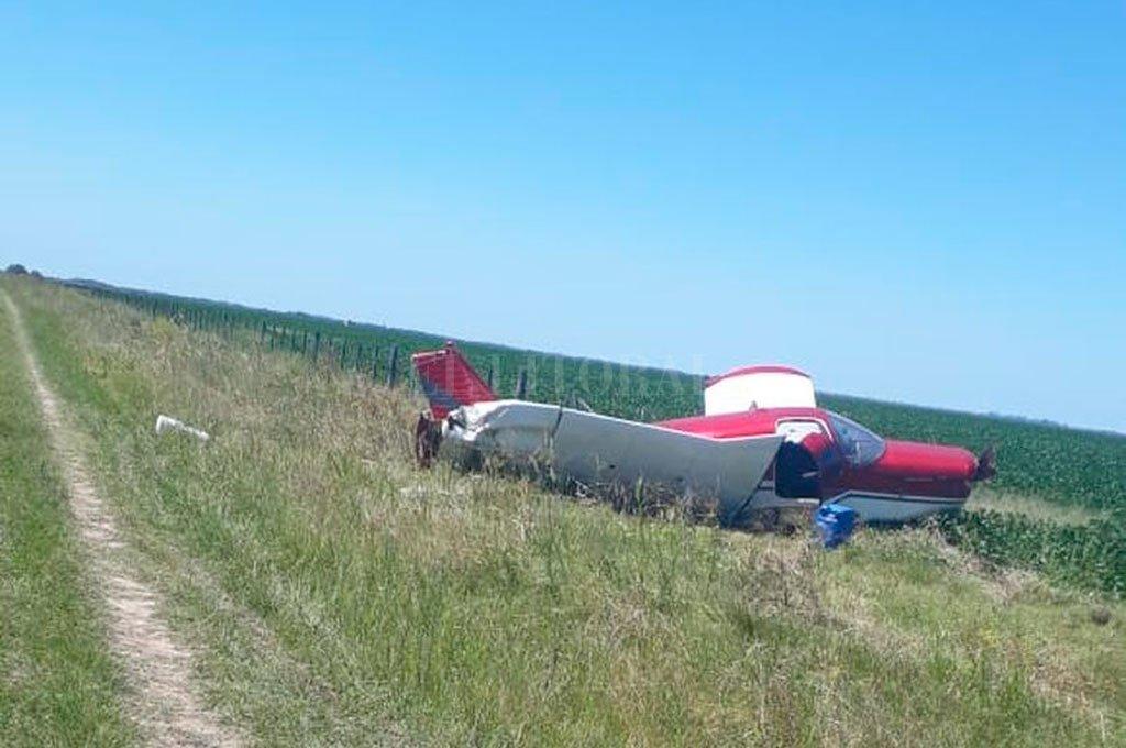 El 22 de febrero de 2020, una avioneta que traía droga proveniente de Paraguay quedó enredada entre los alambrados en un campo situado en el departamento San Justo. Crédito: Archivo El Litoral