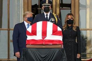 Abuchearon a Donald y Melania Trump durante los homenajes a Ruth Bader Ginsburg