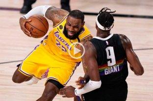 Lakers ganan el cuarto juego ante Nuggets y quedó a un paso de la final