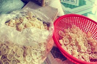 Vietnam: confiscaron 345.000 preservativos usados que habían sido limpiados para revender