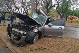 Fuerte choque en la Costanera de Santa Fe dejó un lesionado -  -