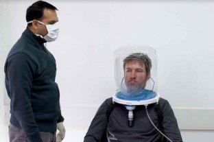 Siete provincias usan cascos de oxígeno para evitar que los pacientes con Covid-19 necesiten respirador   - Luego de varias pruebas, el casco comienza a usarse en varias provincias.   -