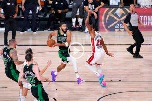 Boston Celtics ganó el quinto juego ante Miami Heat y mantiene sus ilusiones