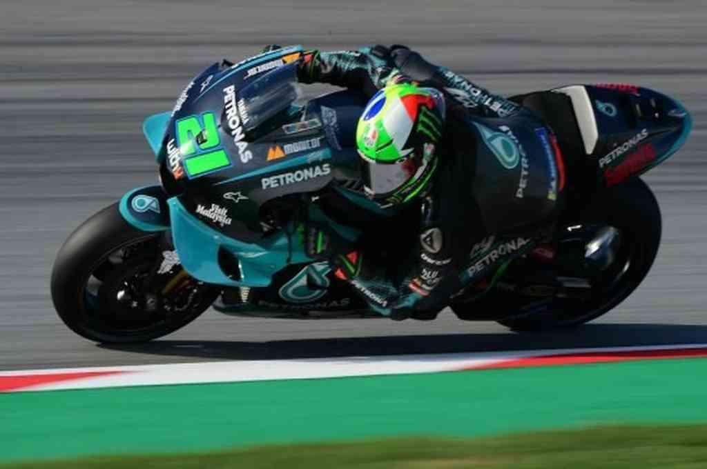 Franco Morbidelli, durante el Gran Premio de Cataluña de Moto GP.  Crédito: AFP