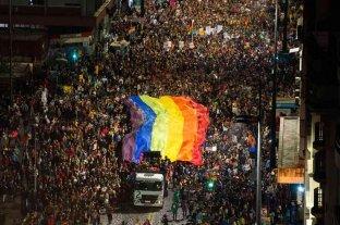 Multitudinaria marcha en Uruguay por la Diversidad Sexual en medio de la pandemia