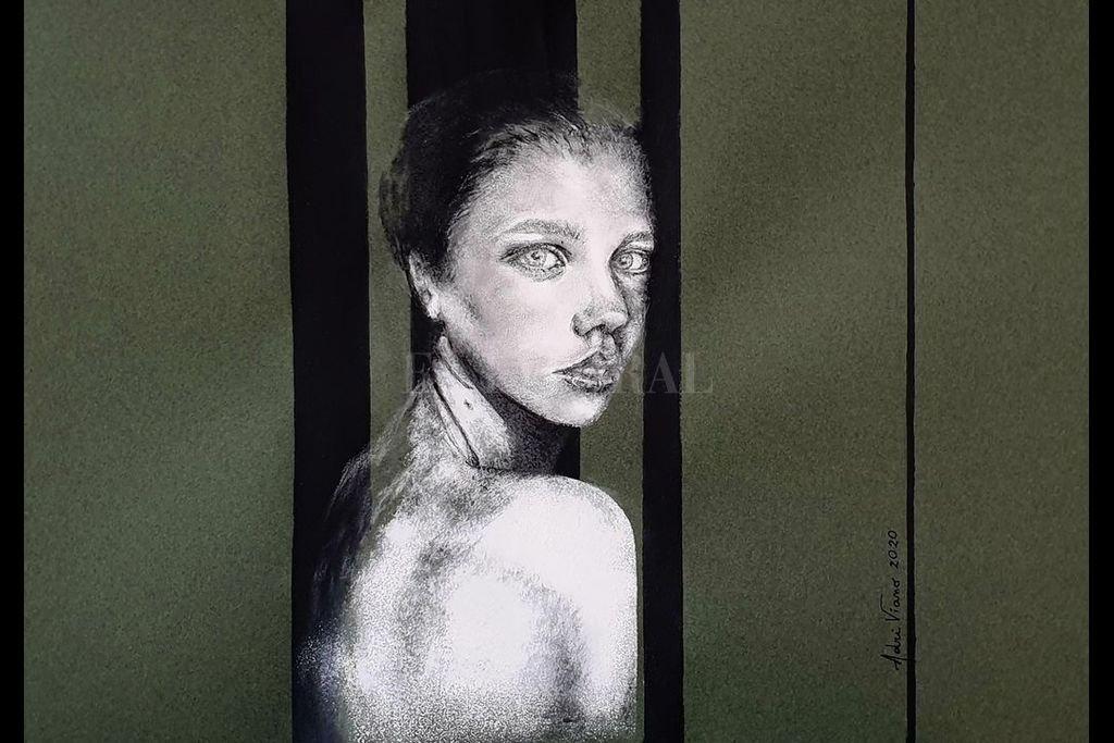 Una de las obras de la artista Adriana Viano, que se sumó a la galería desplegada en Facebook. Crédito: Gentileza de la artista