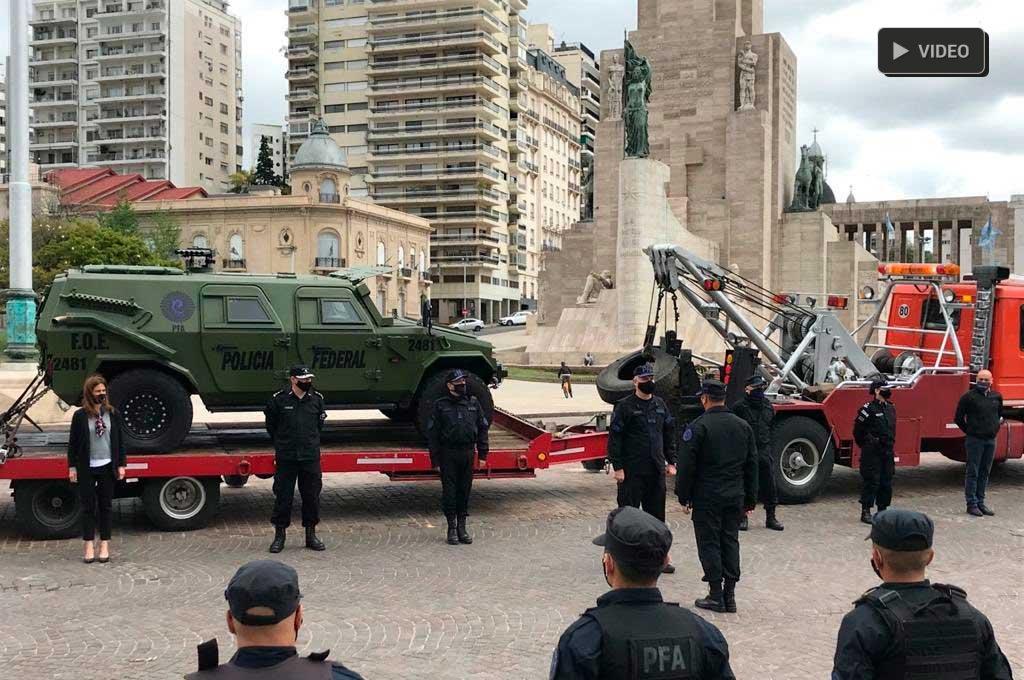 """40 """"federales"""" desembarcaron en Rosario para frenar la violencia -  -"""