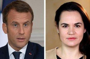 Emmanuel Macron se reunirá con la líder opositora bielorrusa Svetlana Tijanóvskaya