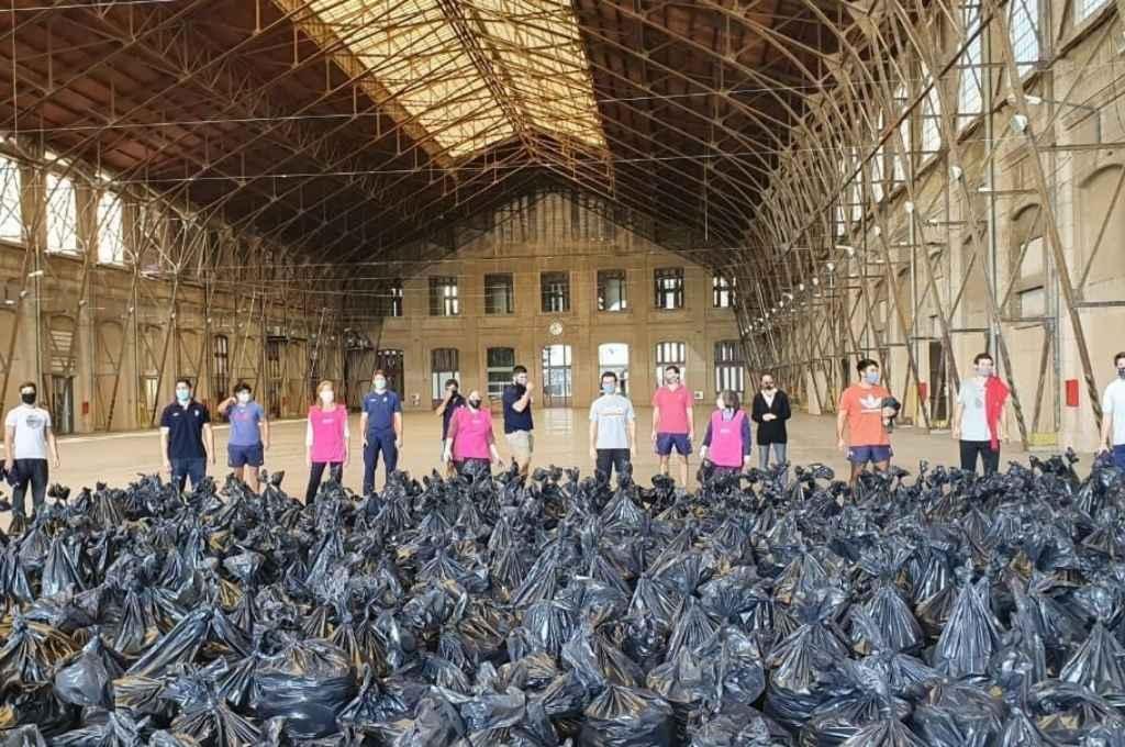 El banco de alimentos de la ciudad ayudó con el rescate de 120.000 kilos de papas, sumándose así al rescate de alimentos más importante del país, que alcanzó los 10 millones de kilos.    Crédito: Gentileza