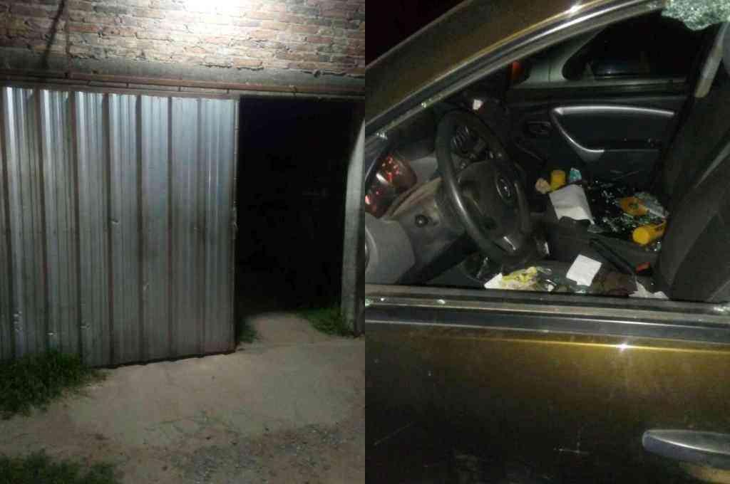 Cinco vehículos resultaron con destrozos importantes. La policía capturó a dos de los ladrones.  Crédito: Gentileza