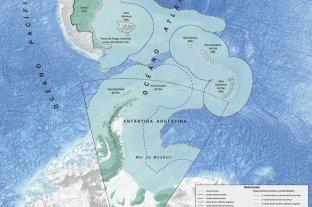 Argentina incluyó la plataforma continental en sus nuevos mapas