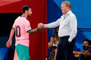 Koeman destacó el mensaje de unidad de Lionel Messi