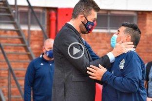 Maradona elogió a Tinelli en el amistoso entre San Lorenzo y Gimnasia