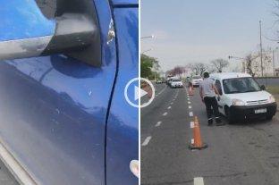 Video: Varios vehículos fueron apedreados en el ingreso oeste de la ciudad -