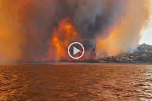Incendios avanzan sobre un barrio de Villa Carlos Paz -  -