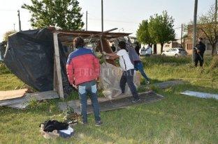 En Fotos: Desalojaron los terrenos usurpados en el norte de la ciudad -  -