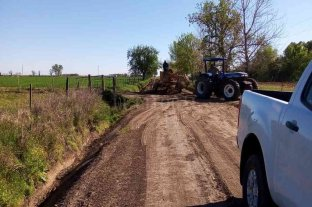 Para evitar la desaparición de tambos, recuperan la red vial rural en San Carlos Norte