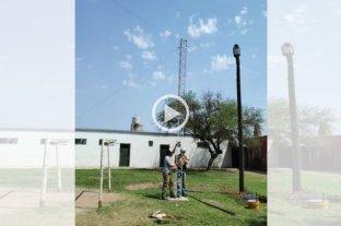 Quedó inaugurada la antena de internet para barrio Las Lomas
