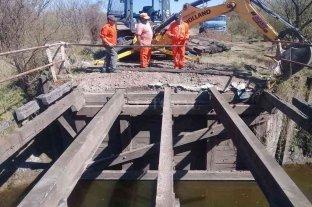 Humboldt: restauraron un puente sobre el Arroyo Las Prusianas