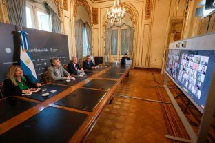 Federico Fulini participó de un encuentro virtual junto a Alberto Fernández