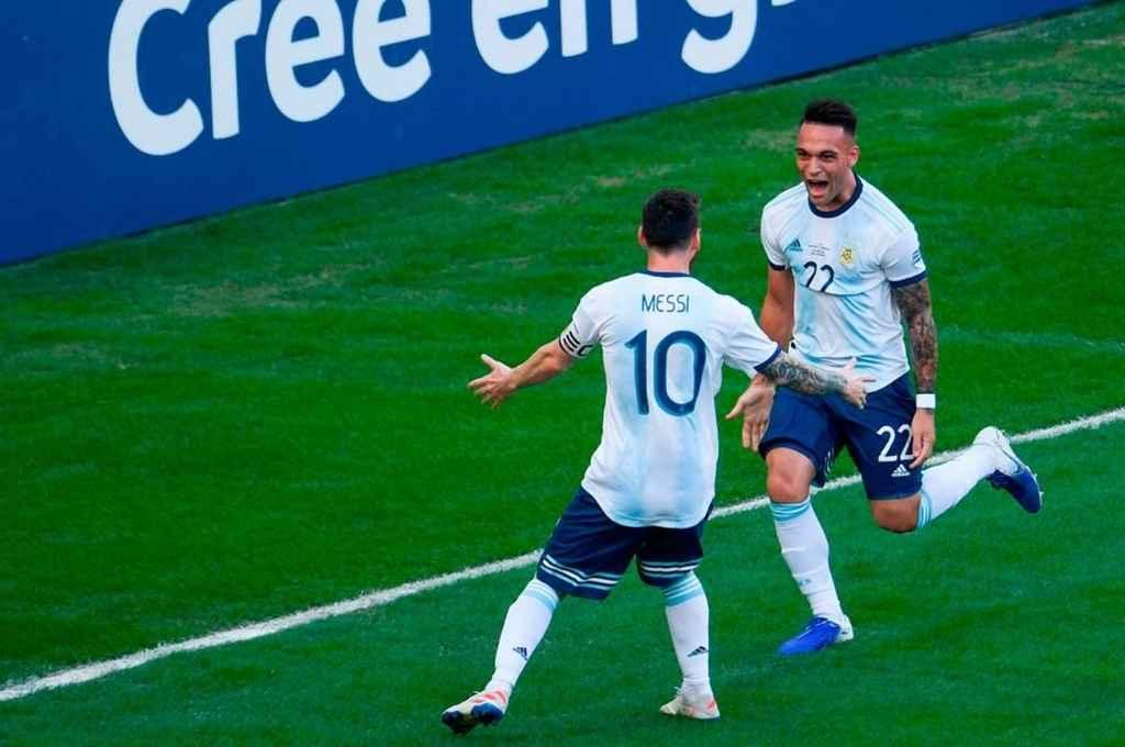 La delantera, con Messi y Lautaro Martínez a la cabeza, invita a ilusionarse.   Crédito: Gentileza