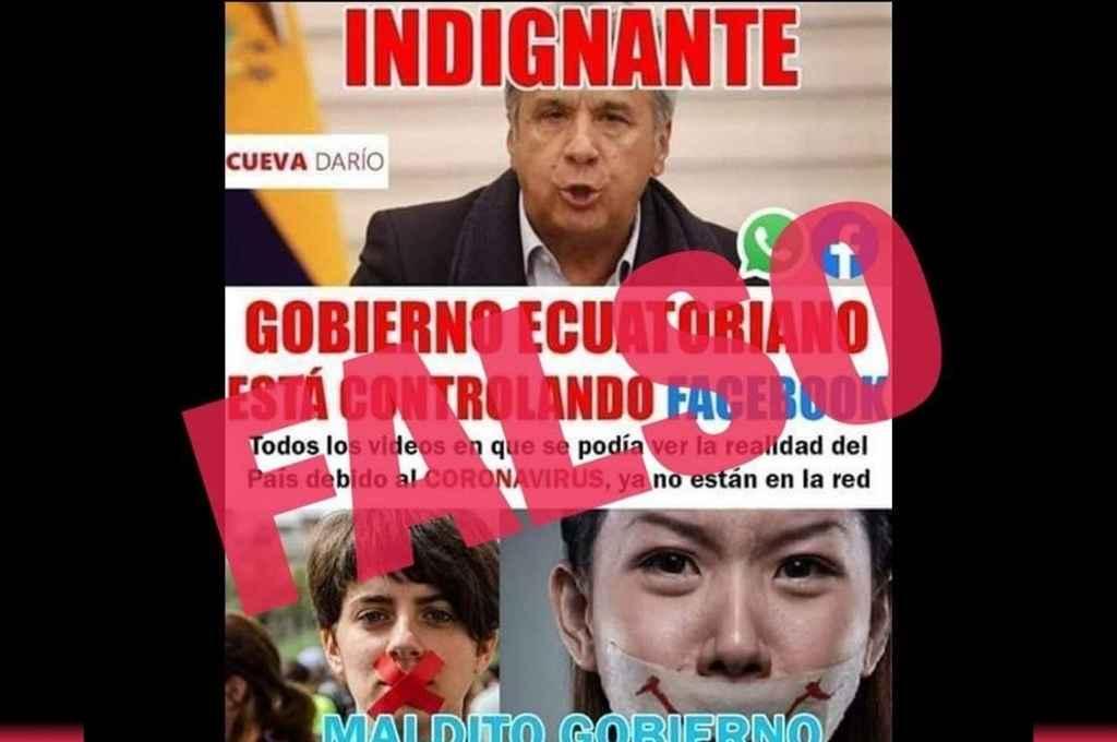 Las autoridades ecuatorianas realizan una campaña contra la desinformación y las mentiras, en defensa de las vías oficiales de comunicación.     Crédito: Internet