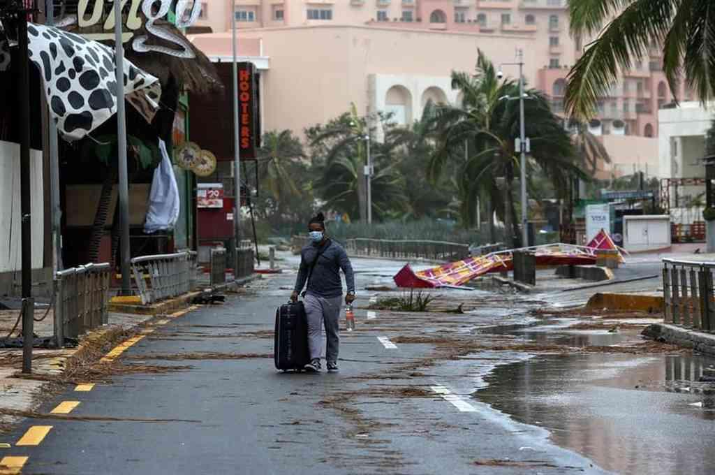 El huracán Delta y su paso por el Puerto Morelos en la costa caribeña de México, provocó destrozos e inundaciones. Los turistas fueron evacuados de los hoteles. Crédito: Gentileza