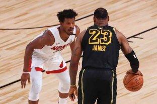 Miami Heat ganó y llevó a Lakers a un sexto partido por el título de la NBA  -  -