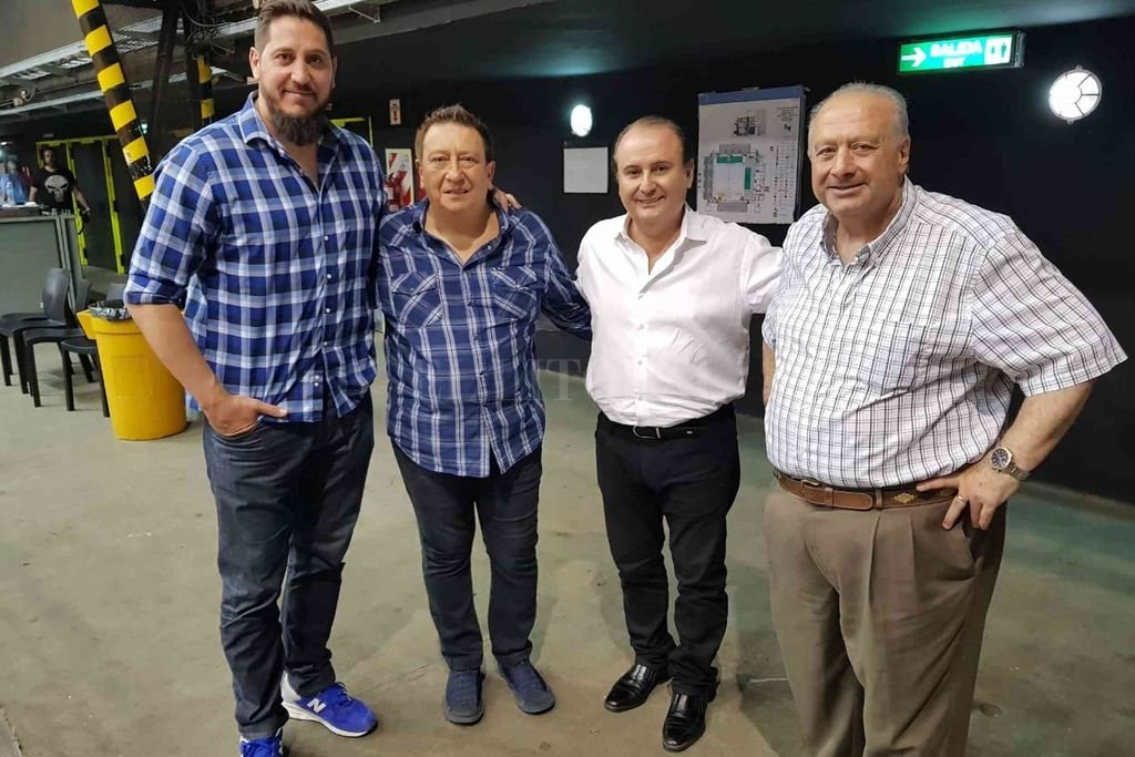 La cúpula del básquetbol argentino. De izquierda a derecha: Andrés Pelussi, Fabián Borro, Gerardo Montenegro y Horacio Muratore. El \\ Crédito: El Litoral