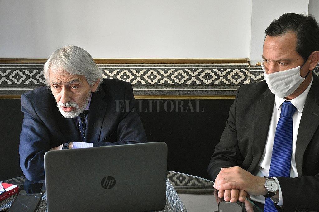 Los abogados Raúl Berizo y Germán Corazza. Crédito: Pablo Aguirre