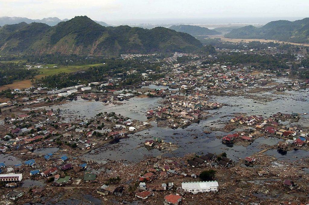 Tsunami de 2004 en el océano Índico Crédito: Archivo
