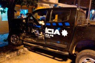 Oficiales lesionados tras siniestro vial en el oeste de la ciudad