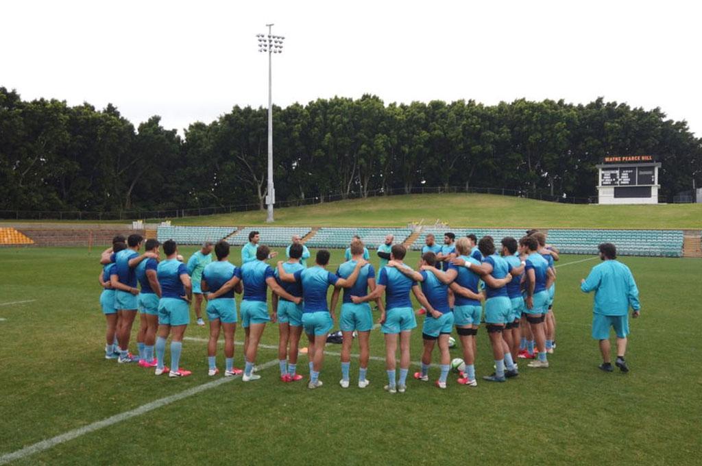 En el Leichhardt Oval, el plantel argentino concreta los entrenamientos de campo, que día a día van creciendo en intensidad. Crédito: UAR