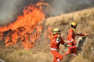 Aún permanecen varios focos de incendios forestales en la provincia de Córdoba