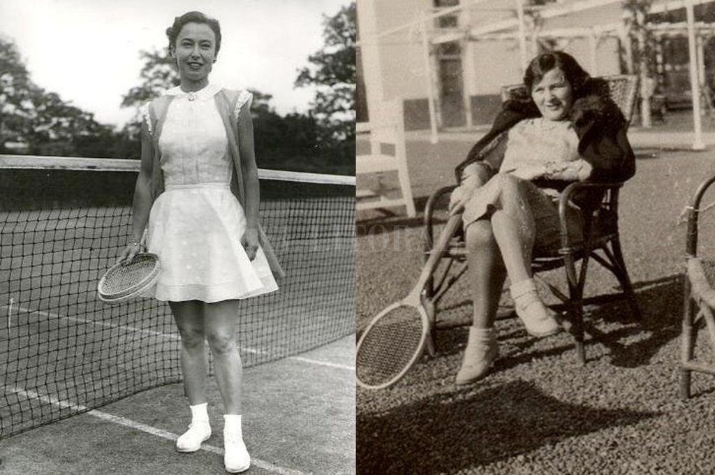 Mary Terán ganó premios nacionales e internacionales. Ella, glamorosa, fina, inquieta, abandonó el camino del tenis competitivo y ofreció la raqueta como prenda de amor. Crédito: Archivo El Litoral