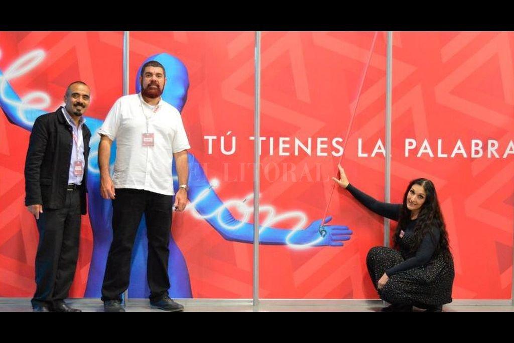 Los disertantes integran el Foro Internacional de Narración Oral: Sabio dirige la delegación argentina, y Trejo y Corbett la mexicana. Crédito: Gentileza Fino