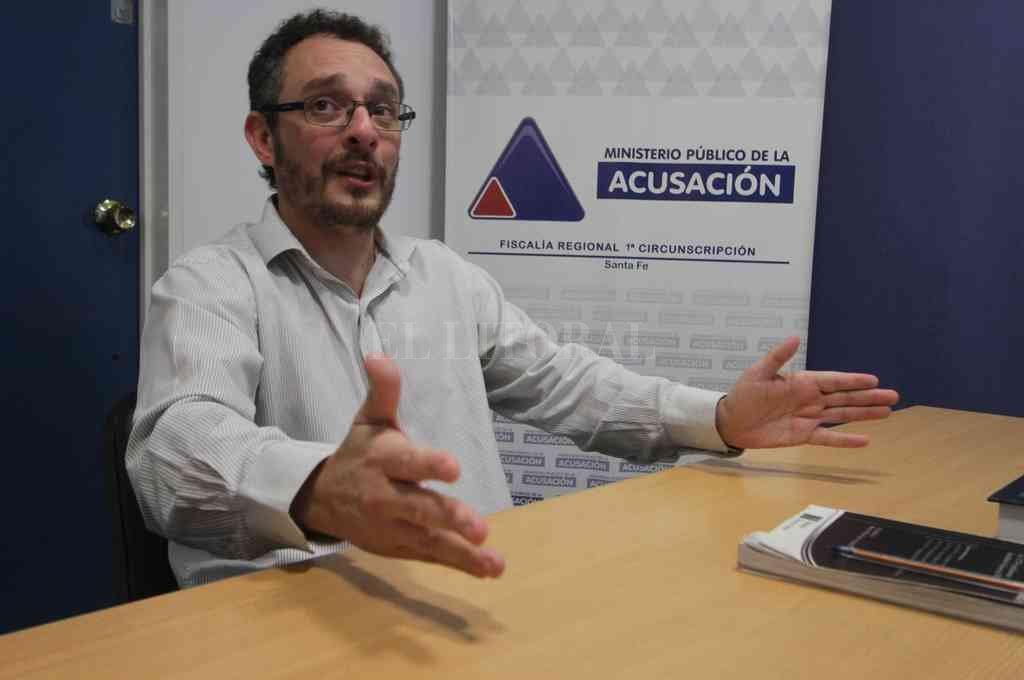 El fiscal Omar De Pedro realizó la ampliación imputativa y adelantó que solicitará la prisión preventiva. Crédito: Archivo El Litoral