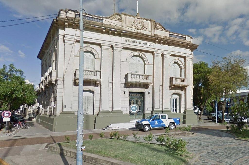 Sede de la Jefatura de Policía, en la ciudad de Rafaela. Crédito: Captura digital - Google Maps Streetview