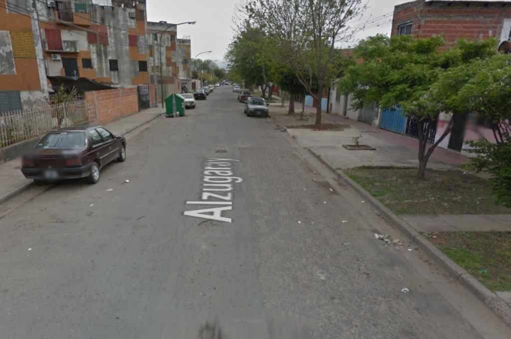 El asesinato ocurrió entre Buenos Aires y Alzugaray, en Barrio La Carne. Crédito: Google Maps