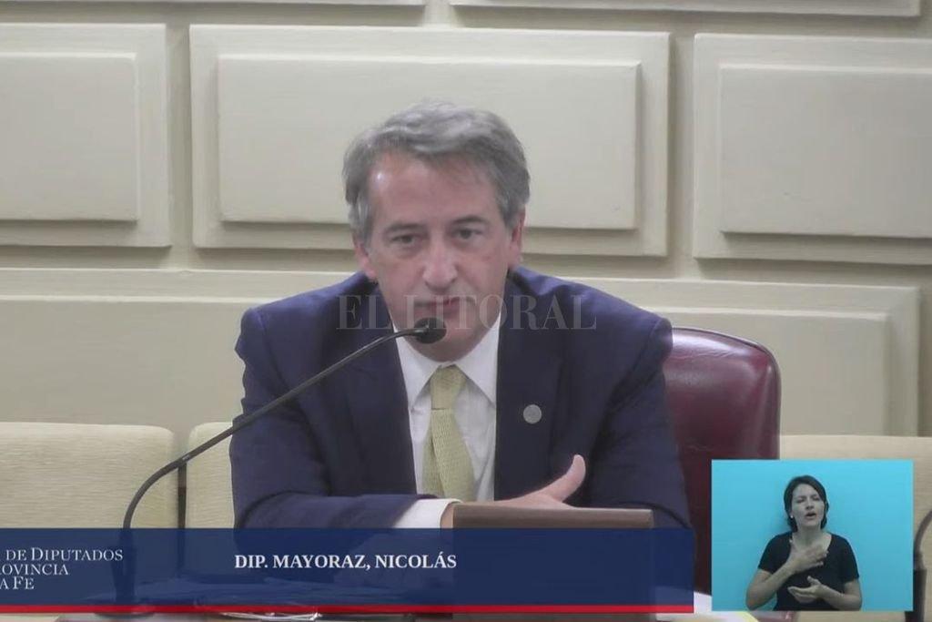 Mayoraz hizo fuertes objeciones al texto girado al Senado por Diputados sobre ESI. Crédito: Captura de pantalla.