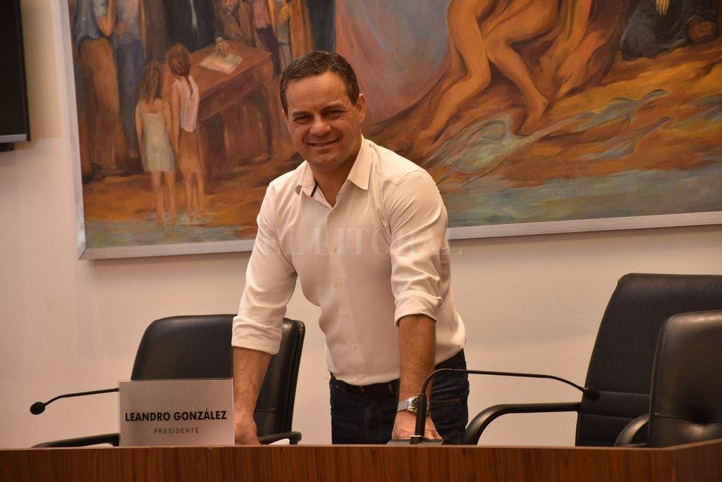 Leandro González, presidente del Concejo. Crédito: Flavio Raina / Archivo El Litoral